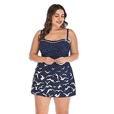 PASATO S-5XL Womens Plus Size Swimming Split Swimsuit Swimwear Push Up Beach One-Piece Bikini Sets