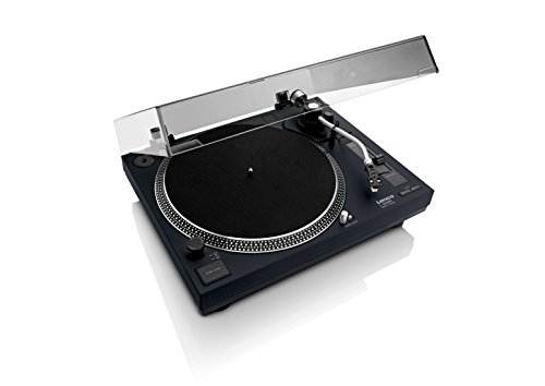 Lenco L-400 Black | 33 & 45 RPM Direct Drive USB Turntable for Vinyl with...