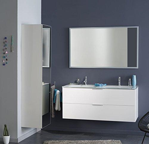 Parisot Badmöbel-Set 3tlg. Luxy 3 Badmöbel-Set 3tlg. in der Farbe Weiss Hochglanz lackiert