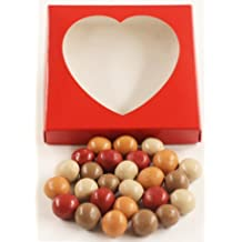 Scott's Cakes Fall Harvest Gourmet Chocolate Malt Balls in a 1 Pound Heart Box