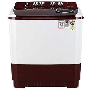 LG 11 kg 5 Star Semi-Automatic Top Loading Washing Machine (P1145SRAZ, Burgundy, Punch + 3)
