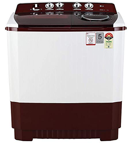 LG 11 kg 5 Star Semi-Automatic Top Loading Washing Machine (P1145SRAZ, Burgundy, Punch + 3) 2021 June Semi-automatic washing Machine: Economical, Low water and energy consumption, involves manual effort; has both washing and drying functions Capacity 11.0 kg (wash): Suitable for large families Energy rating 5 Star