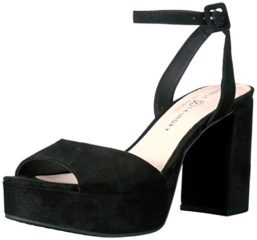Chinese Laundry Women's Theresa Platform Dress Sandal, Black Suede,  8 M US ()