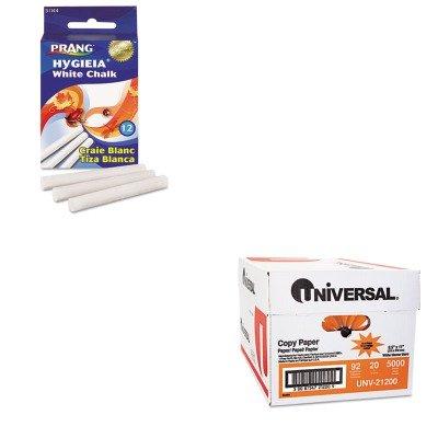 (KITDIX31144UNV21200 - Value Kit - Prang Hygieia Dustless Board Chalk (DIX31144) and Universal Copy Paper (UNV21200))