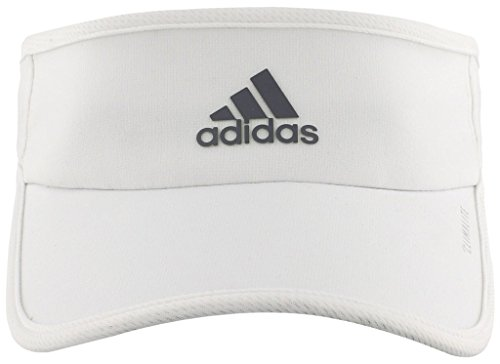 adidas Women's Superlite Performance Visor, White/Light Onix, One Size -