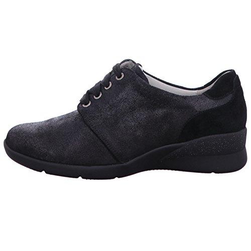 Ufer Waldl Zapatos Para Cordones Mujer De Negro dxHWnx