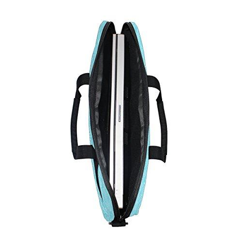 jstel Ostern blau Eier Laptop Schulter Messenger Tasche Fall Sleeve für 35,6cm zu 39,6cm mit verstellbarer Notebook Schultergurt