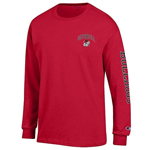 ia Bulldogs Long Sleeve Tshirt Letterman Red - XXL ()