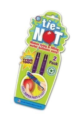 TIE-NOT 2 pack 2 fillers 2 tools 2 balloons fun summer water party family group great fun happy soak soppy wet