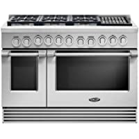 DCS RGV2486GLL 48 Gas Freestanding Range with 6 Burners, Sealed Burner, None Drawer, 5.3 cu. ft. Primary Oven Capacity, in Stainless Steel