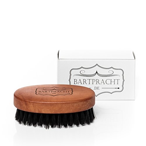 Bartpracht Bartbürste mit Wildschweinborsten | Premium Bartpracht Qualität | 50 x 90 mm mit 7 Reihen | ovale Bartbürste zur Bartpflege | Naturprodukt | Made in Germany