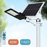 80W LED Solar Street Lights, Outdoor Dusk to Dawn
