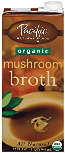 Pacific Natural Foods Organic Mushroom Broth, 32-Ounce Containers (Pack of 12)