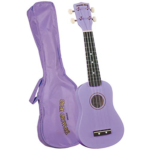 Diamond Head, 4-String Soprano Ukulele, Violet, DU-118)