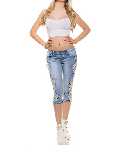 FuweiEncore Jeans Skinny Jeans Pantalons Dentelle Patchwork Pantalons d't Zipper Jeans Skinny Jeans Hipster Jeans boutonn Blanc