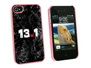 Graphics and More 13.1 Half Marathon Running Snap-On Hard Protective Case for Apple iPhone 5c - Non-Retail Packaging - Pink