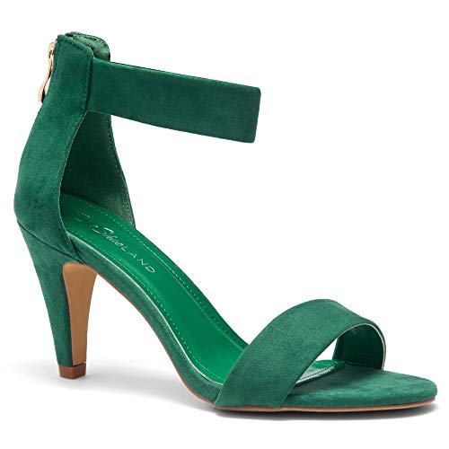 Herstyle RROSE Women's Open Toe High Heels Dress Wedding Party Elegant Heeled Sandals Green 5.0