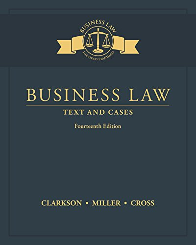 Business Law: Text and Cases cover