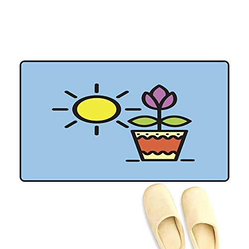 doormatFlower in a Pot Potted Plants Vector icon Outdoor Doormat 50x80cm