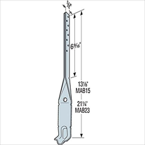 (200 Count) Simpson Strong-Tie MAB15 - 2 x 4 / 2 x 6 Mudsill Anchor