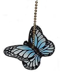 Blue Butterfly Fan Pull Decorative Light Chain