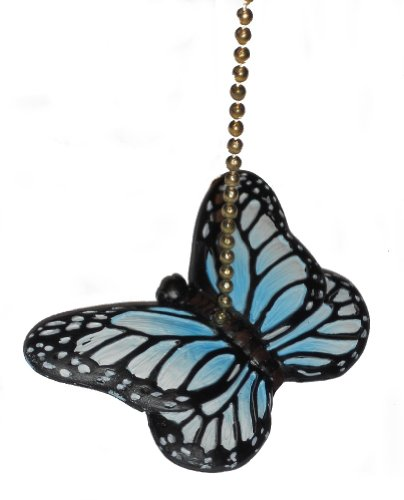 Fan Ceiling Pull Butterfly (Blue Butterfly Fan Pull Decorative Light Chain by Clementine Design)