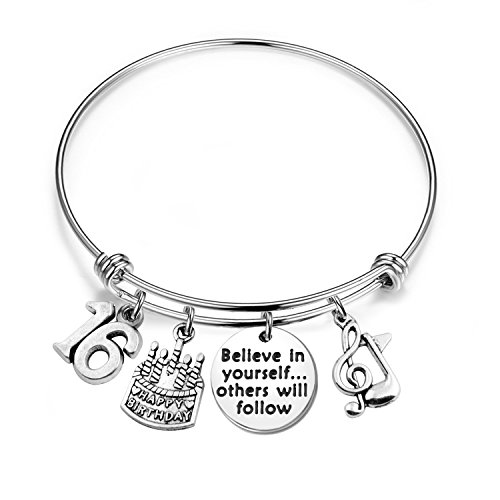 MAOFAED 21st birthday bracelet 13th Sweet 16 18th Inspiration Birthday Gift Believe in yourself Anniversary Jewelry (B-16th) by MAOFAED