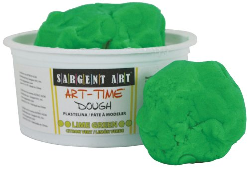 Sargent Art 85-3179 1-Pound Art-Time Dough, Lime Green by Sargent Art