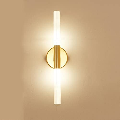Nclon Apliques Personalidad Creativo Luz de lectura cabecera Dormitorio Lámpara de pared de cabeza doble Hierro Hoteles Escaleras Led Simple moderna Apliques-dorado 40x10cm(16x4inch): Amazon.es: Iluminación