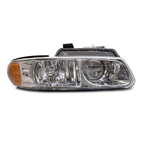 Plymouth Voyager Replacement Headlight - HEADLIGHTSDEPOT Halogen Headlight Compatible with Chrysler Dodge Plymouth Caravan Town & Country W/Quad Option Voyager Includes Right Passenger Side Headlamp