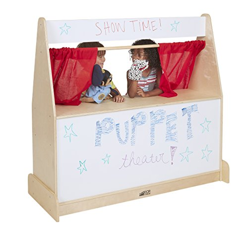 (ECR4Kids Activity Birch Hardwood Play Puppet Theater with Dry-Erase Board)