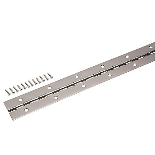 Everbilt 1-1/2 in. x 72 in. Bright Nickel Continuous Hinge -  Crown Bolt, 16115