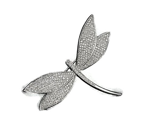 B4182 Fashion cubic zirconia pave setting dragonfly shaped brooch,women's - Frames Eye Chanel