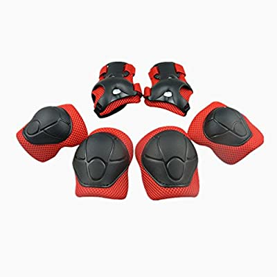 Child Protective Gear Set YIMAN Cycling Knee Pads and Elbow Pads with Wrist Guards