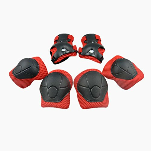 Child Protective Gear Set Physport Cycling Knee Pads and Elbow Pads with Wrist Guards for Cycling Skateboard Scooter Bmx Bike and Other Outdoor Sports Activities