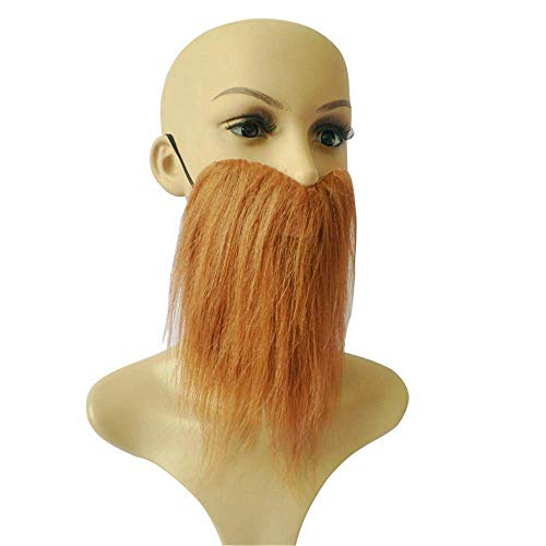 GLBUY Make up Self Adhesive Fake Eyebrows Beard Moustache Kit Facial Hair Cosplay Props Disguise Decoration for Masquerade Costume Party -