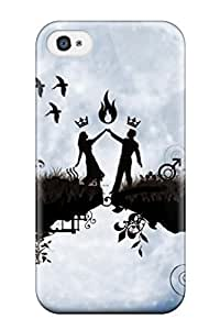 Excellent Design Love Pair Dance In Moon Light Case Cover For Iphone 4/4s