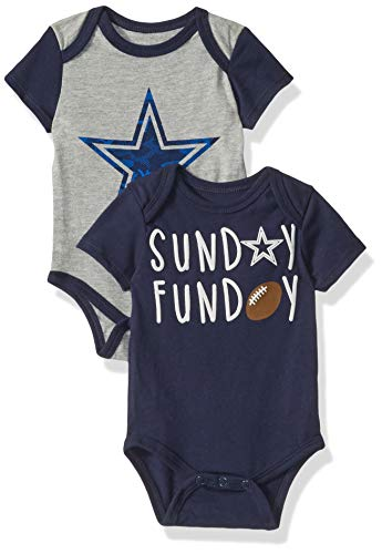 Dallas Cowboys NFL Vito Onesie Set, 3M, Atg/NVY