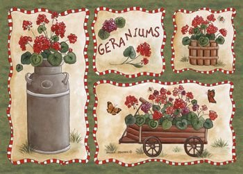 Price comparison product image Custom Printed Rugs Home Accents Geraniums Novelty Rug