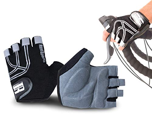- RIMSports Bike Gloves for Men & Women - MTB Gloves w/Microfiber Thumb - Ideal Mountain Biking Gloves & Cycling Gloves - Reflective Biking Gloves - Premium Bicycle Gloves & Riding Gloves (Black, XL)