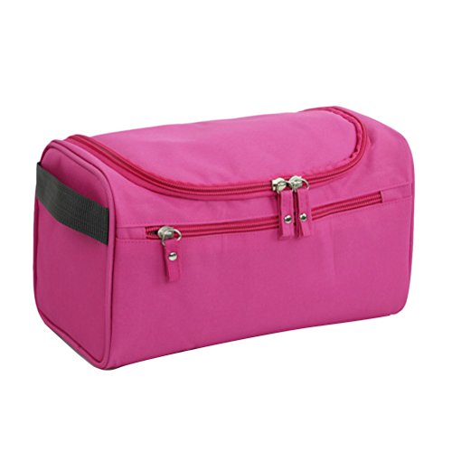 Zhhlinyuan Portable Folding Travel Toiletry Hanging Wash Bag with Hook Ladies Waterproof Oxford Make Up Cosmetic Bags Organiser