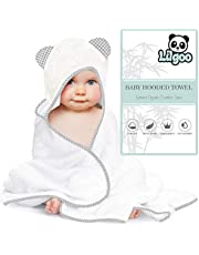 Baby Organic Hooded Towel - Natural Soft Thick & Luxurious Eco-Friendly Bamboo - Big 35 X 35 Inch Ultra Absorbent Bath Robe for Babies & Toddlers - For Newborn Skin by LilGoo