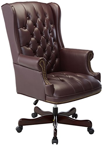 Lorell Vinyl Swivel Executive Chair, 30 by 32 by 44-Inch-46-Inch, - Back Vinyl Executive
