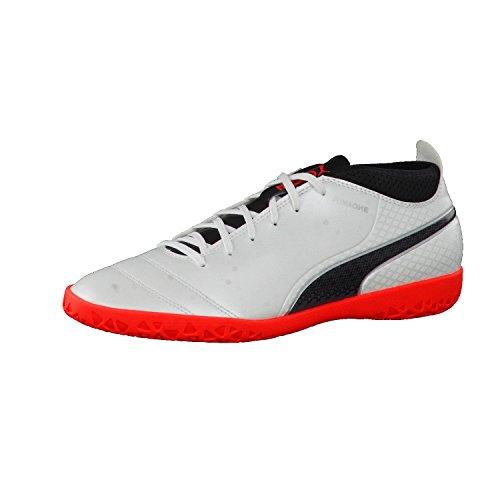 Puma One 17.4 It, Zapatillas de Fútbol para Hombre Blanco (White-black-fiery Coral)