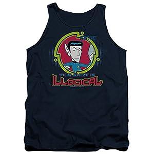 Star Trek Quogs Cartoon CBS TV Series Illogical Mr. Spock Adult Tank Top Shirt