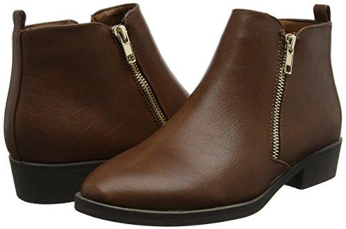 pu Para 18 Mujer Marrón Zip 2 Botines Day tan New Darleen Boot Look qRtSS8