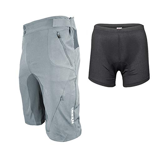 Urban Cycling Apparel Flex MTB Trail Shorts - Soft Shell Mountain Bike Shorts with Zip Pockets and Vents (Medium (32
