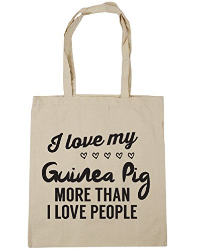 Natural than people my 42cm more love pig Gym Tote love I litres 10 HippoWarehouse Bag Shopping Beach I x38cm guinea qzx4HzYB