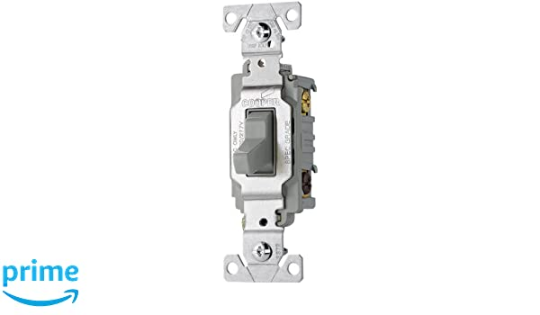 eaton cs320gy 20-amp 120/277-volt commercial grade 3-way compact toggle  switch with side wiring, gray finish