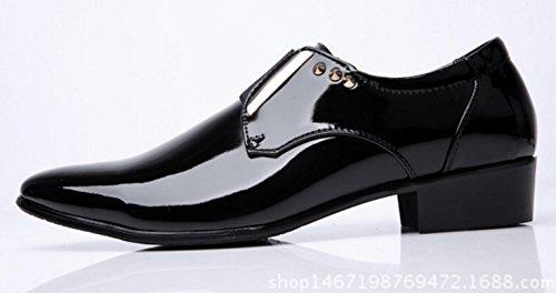 brillante del la vestir negocios black los de Zapatos boda de banquete manera de Zapatos coreanos Zapatos la de hombres oficina de de Zapatos MLFMHR 1EqAxOPw4n
